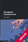 Cover of European Criminal Law (eBook)