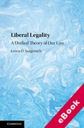 Cover of Liberal Legality: A Unified Theory of Our Law (eBook)