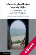 Cover of Exhausting Intellectual Property Rights: A Comparative Law and Policy Analysis (eBook)