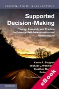 Cover of Supported Decision-Making: Theory, Research, and Practice to Enhance Self-Determination and Quality of Life (eBook)