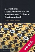 Cover of International Standardization and the Agreement on Technical Barriers to Trade (eBook)