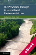 Cover of The Prevention Principle in International Environmental Law (eBook)