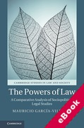 Cover of The Powers of Law: A Comparative Analysis of Sociopolitical Legal Studies (eBook)