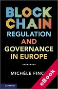 Cover of Blockchain Regulation and Governance in Europe (eBook)