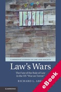Cover of Law's Wars: The Fate of the Rule of Law in the US 'War on Terror' (eBook)