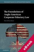Cover of The Foundations of Anglo-American Corporate Fiduciary Law: A Comparison of UK and US Approaches (eBook)