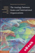 Cover of The Analogy between States and International Organizations (eBook)