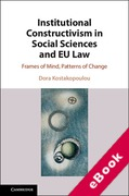 Cover of Institutional Constructivism in Social Sciences and EU Law: Frames of Mind, Patterns of Change (eBook)