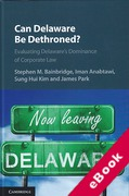 Cover of Can Delaware Be Dethroned? : Evaluating Delaware's Dominance of Corporate Law (eBook)