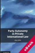 Cover of Party Autonomy in Private International Law (eBook)