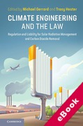 Cover of Climate Engineering and the Law: Regulation and Liability for Solar Radiation Management and Carbon Dioxide Removal (eBook)