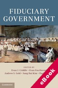 Cover of Fiduciary Government (eBook)