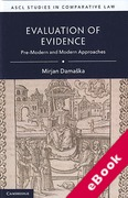 Cover of Evaluation of Evidence: Pre-Modern and Modern Approaches (eBook)