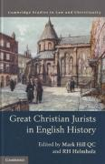 Cover of Great Christian Jurists in English History
