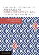 Cover of Government Accountability: Australian Administrative Law Sources and Materials