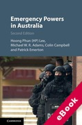 Cover of Emergency Powers in Australia (eBook)