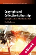Cover of Copyright and Collective Authorship: Locating the Authors of Collaborative Work (eBook)