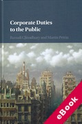 Cover of Corporate Duties to the Public (eBook)