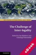 Cover of The Challenge of Inter-legality (eBook)