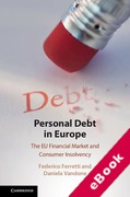 Cover of Personal Debt in Europe: The EU Financial Market and Consumer Insolvency (eBook)