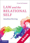 Cover of Law and the Relational Self (eBook)