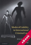 Cover of Modes of Liability in International Criminal Law (eBook)