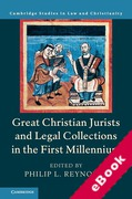 Cover of Great Christian Jurists and Legal Collections in the First Millennium (eBook)