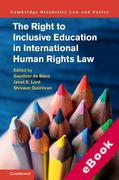 Cover of The Right to Inclusive Education in International Human Rights Law (eBook)
