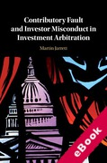 Cover of Contributory Fault and Investor Misconduct in Investment Arbitration (eBook)