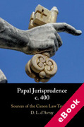 Cover of Papal Jurisprudence c. 400: Sources of the Canon Law Tradition (eBook)