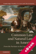 Cover of Common Law and Natural Law in America: From the Puritans to the Legal Realists (eBook)