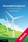 Cover of Renewable Energy Law: An International Assessment (eBook)