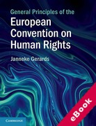 Cover of General Principles of the European Convention on Human Rights (eBook)
