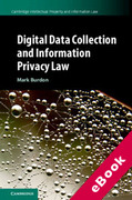Cover of Digital Data Collection and Information Privacy Law (eBook)