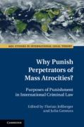 Cover of Why Punish Perpetrators of Mass Atrocities?: Purposes of Punishment in International Criminal Law
