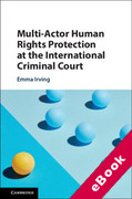Cover of Multi-Actor Human Rights Protection at the International Criminal Court (eBook)