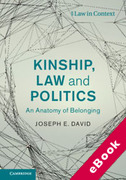 Cover of Kinship, Law and Politics: An Anatomy of Belonging (eBook)