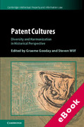 Cover of Patent Cultures: Diversity and Harmonization in Historical Perspective (eBook)