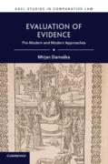 Cover of Evaluation of Evidence: Pre-Modern and Modern Approaches