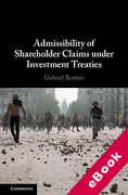 Cover of Admissibility of Shareholder Claims under Investment Treaties (eBook)