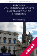 Cover of European Constitutional Courts and Transitions to Democracy (eBook)