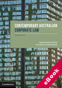 Cover of Contemporary Australian Corporate Law (eBook)
