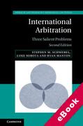 Cover of International Arbitration: Three Salient Problems (eBook)