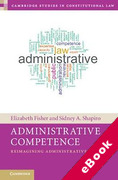 Cover of Administrative Competence: Reimagining Administrative Law (eBook)