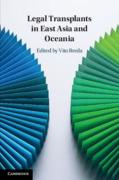 Cover of Legal Transplants in East Asia and Oceania