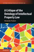 Cover of A Critique of the Ontology of Intellectual Property Law