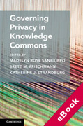 Cover of Governing Privacy in Knowledge Commons (eBook)
