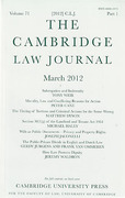 Cover of The Cambridge Law Journal: Print Only