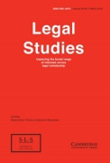 Cover of Legal Studies: The Journal of the Society of Legal Scholars - Print + Online