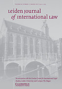 Cover of Leiden Journal of International Law: Print Only